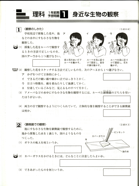 国語 1年生 国語 教科書 : 中1ポピー理科定期テスト対策 ...