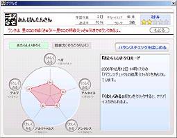 「バランスチェックモード」画面